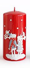 Parfémy, Parfumerie, kosmetika Dekorativní svíčka, červená, 7x10 cm - Artman Reindeers