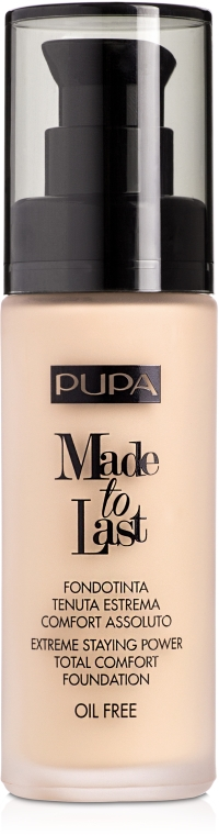 Make-up - Pupa Made To Last Foundation