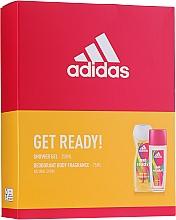 Parfémy, Parfumerie, kosmetika Adidas Get Ready! For Her - Sada (deo/sp/75ml +sh/gel/250ml)