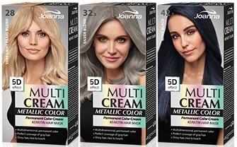 Barva na vlasy - Joanna Multi Cream Color Metallic