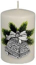 """Parfémy, Parfumerie, kosmetika Dekorativní svíčka """"Stříbrný vánoční zvonek"""", 7x10 cm - Artman Christmas Bell Candle"""