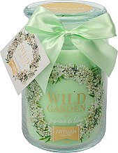 Parfémy, Parfumerie, kosmetika Aromatická svíčka, 10x16 cm., 700g. - Artman Wild Garden Jasmin & Lilac