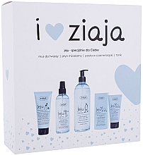 Parfémy, Parfumerie, kosmetika Sada - Ziaja I Love Ziaja (f/paste/75ml + f/tonic/200ml + mincellar/water/390ml + f/muss/50ml)