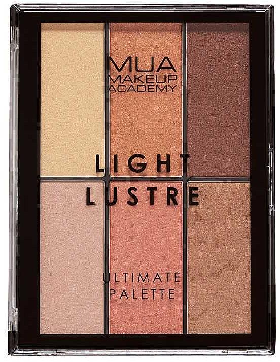 Paletka na líčení - MUA Light Lustre Ultimate Palette Bronze, Blush, Highlight — foto N1