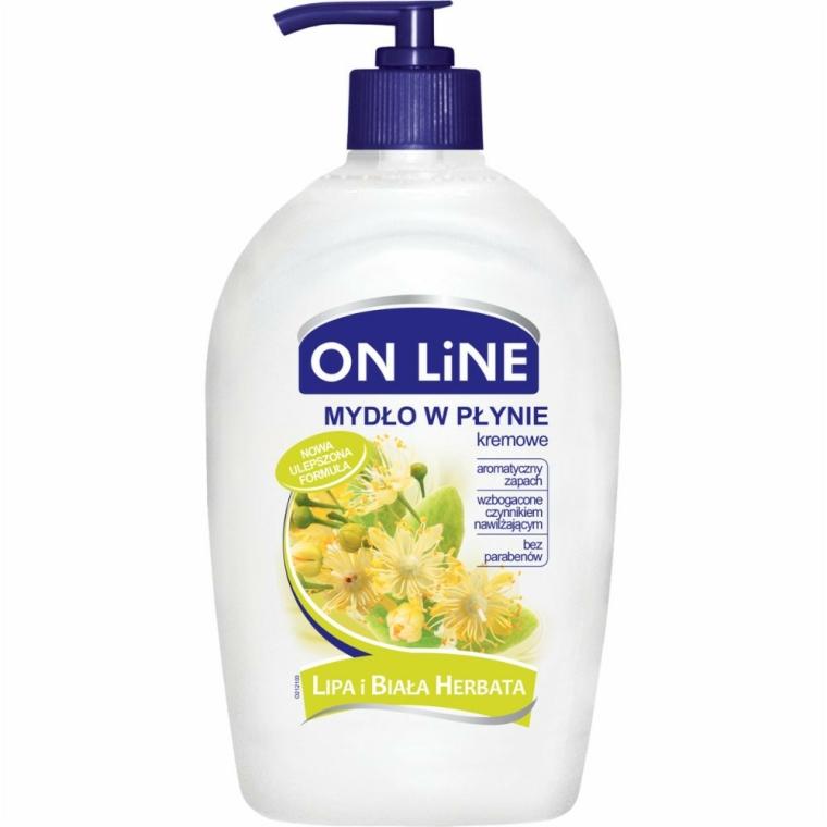 "Tekuté mýdlo s dávkovačem ""Lípa a bílý čaj"" - On Line Liquid Soap"