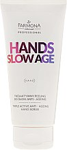 Parfémy, Parfumerie, kosmetika Peeling na ruce - Farmona Professional Hands Slow Age Triple Active Anti-ageing Hand Scrub