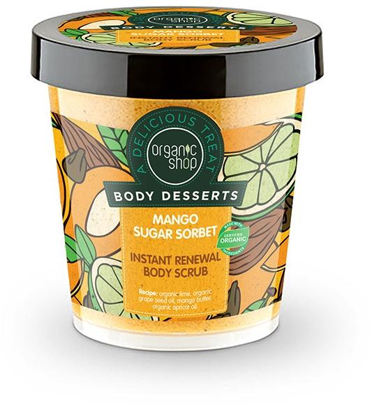 Tělový peeling antioxidant - Organic Shop Body Desserts Mango Sugar Sorbet