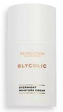 Parfémy, Parfumerie, kosmetika Noční krém na obličej - Revolution Skincare Glycolic Overnight Moisture Cream