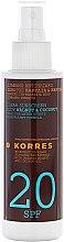Parfémy, Parfumerie, kosmetika Olej na opalování - Korres Clear Sunscreen Body Face Walnut Coconut Oil SPF20