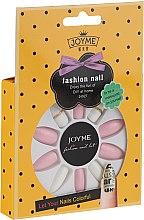 Parfémy, Parfumerie, kosmetika Sada umělých nehtů, bílé s růžovou - Donegal Express Your Beauty