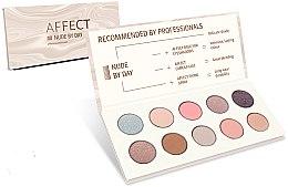 Parfémy, Parfumerie, kosmetika Lisovaná paleta očních stínů - Affect Cosmetics Nude By Day Eyeshadow Palette