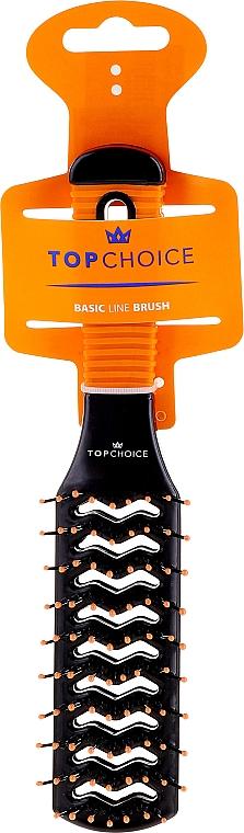 Kartáč na vlasy, 2021, černo-oranžový - Top Choice