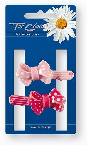 Sponky do vlasů 24894 růžové a červené - Top Choice — foto N1