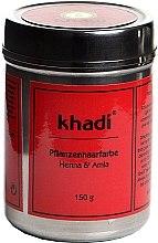 "Parfémy, Parfumerie, kosmetika Organická bylinná barva na vlasy ""Henna a Amla"" - Khadi Herbal Hair Colour Henna & Amla"