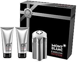 Parfémy, Parfumerie, kosmetika Montblanc Emblem Intense - Sada (edt/100ml + a/sh/b/100ml + sh/g/100ml)