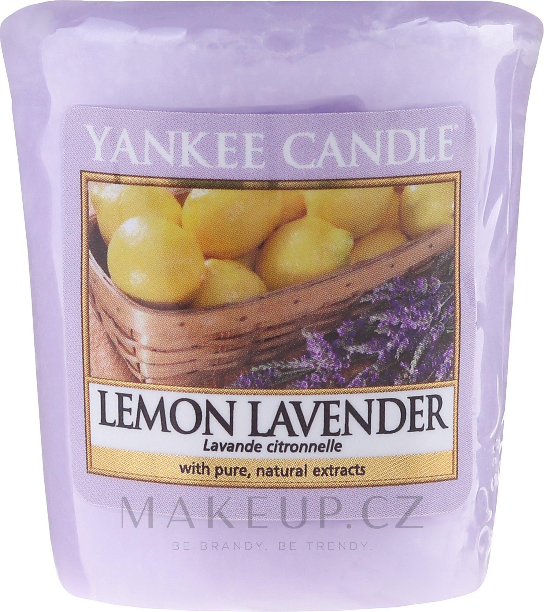 """Aromatická svíčka """"Citron a levandule"""" - Yankee Candle Scented Votive Lemon Lavender — foto 49 g"""