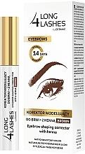 Parfémy, Parfumerie, kosmetika Korektor na obočí s barvicím efektem - Long4Lashes Eyebrow Shaping Corrector with Henna