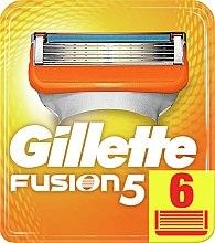Parfémy, Parfumerie, kosmetika Náhradní kazety na holení, 6ks - Gillette Fusion