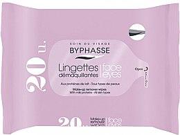 Parfémy, Parfumerie, kosmetika Odličovací ubrousky, 20 ks - Byphasse Make-up Remover Milk Proteins All Skin Wipes