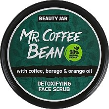 """Parfémy, Parfumerie, kosmetika Detoxikační peeling """"Mr. Coffee Bean"""" - Beauty Jar Detoxifying Face Scrub"""