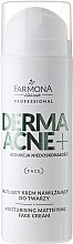 Parfémy, Parfumerie, kosmetika Krém matující s AHA kyselinami - Farmona Professional Dermaacne+ Moisturising Mattifying Face Cream