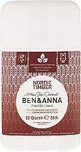 Parfémy, Parfumerie, kosmetika Deodorant se sodou Nordic Timber (Plast) - Ben & Anna Natural Soda Deodorant Nordic Timber