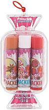 Parfémy, Parfumerie, kosmetika Sada balzámů na rty - Lip Smacker Candy Pink (balm/3x4g)