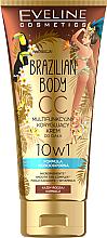 Parfémy, Parfumerie, kosmetika Voděodolný multifunkční SS krém na tělo s účinkem opalování - Eveline Cosmetics Brazilian Body Waterproof Multi Functional CC Cream