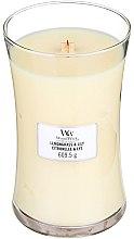 Parfémy, Parfumerie, kosmetika Vonná svíčka ve sklenici - WoodWick Hourglass Candle Lemongrass & Lily