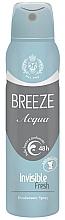 Parfémy, Parfumerie, kosmetika Deodorant ve spreji - Breeze Acqua Invisible Fresh Deodorante Spray 48H