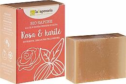 Parfémy, Parfumerie, kosmetika Mýdlo s bambuckým máslem a růžovými oleji - La Saponaria Rose & Shea Butter Soap
