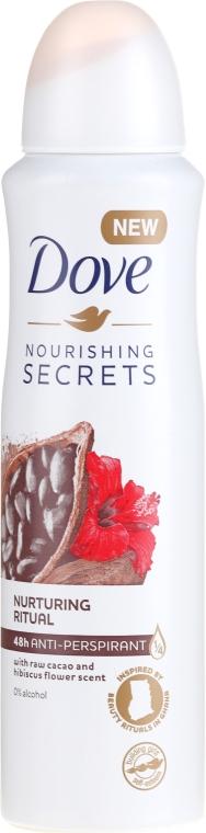 Antiperspirant ve spreji - Dove Nourishing Secrets Cacao & Hibiscus Dry Spray Antiperspirant