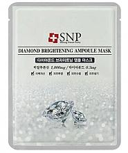 Parfémy, Parfumerie, kosmetika Pleťová maska s extraktem z diamantového prášku - SNP Diamond Brightening Ampoule Mask