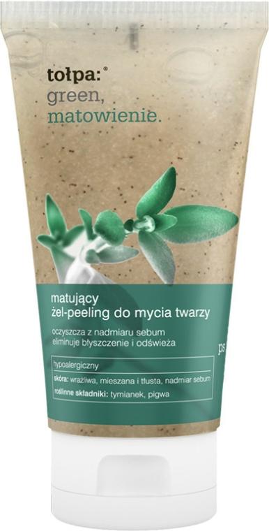 Matující gelový scrub na obličej - Tolpa Green Mattifying Gel-Scrub