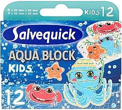 Parfémy, Parfumerie, kosmetika Dětské náplasti - Salvequick Aqua Block Kids Slices