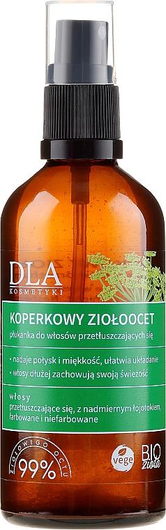 Kondicionér s jablečným octem a bylinkami na mastné vlasy - DLA — foto N1
