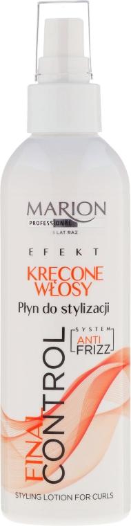 Mléko pro styling kudrnatých vlasů - Marion Final Control Lotion — foto N1