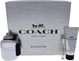 Parfémy, Parfumerie, kosmetika Coach Platinum - Sada (edp/100ml + edp/7.5ml + s/g/100ml)