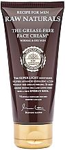Parfémy, Parfumerie, kosmetika Pleťový krém - Recipe For Men RAW Naturals The Grease-Free Face Cream