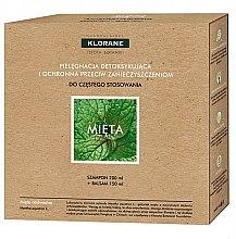 Parfémy, Parfumerie, kosmetika Sada - Klorane Aquatic Mint (shm/200ml + h/balm/150ml)