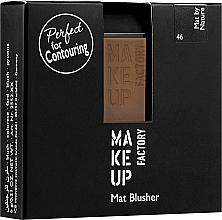 Parfémy, Parfumerie, kosmetika Matná tvářenka - Make Up Factory Mat Blusher