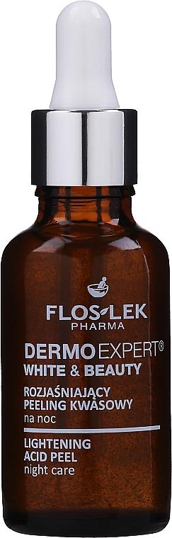 Rozjasňující kyselý peeling na noc - Floslek White & Beauty Night Peeling