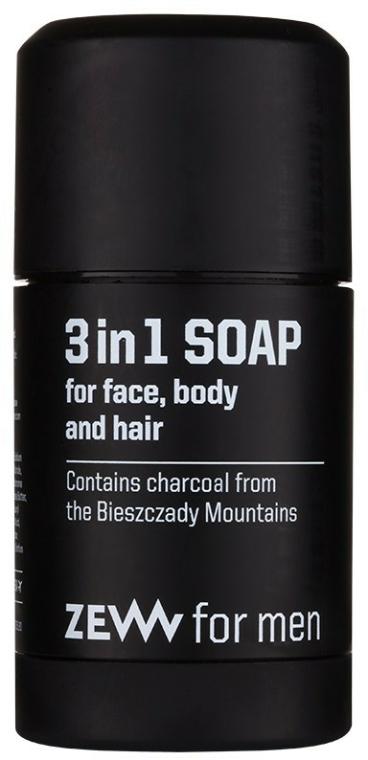 Přírodní tuhé mýdlo 3v1 - Zew For Men 3 in 1 Soap For Face Body And Hair — foto N1