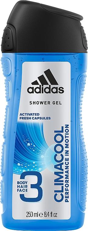 Gel na vlasy, tělo a obličej - Adidas Climacool 3in1 Shower Gel Body&Hair&Face