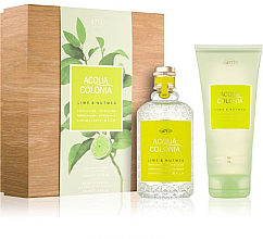 Parfémy, Parfumerie, kosmetika Maurer & Wirtz 4711 Aqua Colognia Lime & Nutmeg - Sada (col 170ml +sh/gel/200ml)