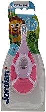 Parfémy, Parfumerie, kosmetika Dětský zubní kartáček Step Be Step, 0-2 roky, růžový - Jordan Step By Step Soft