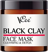Parfémy, Parfumerie, kosmetika Pleťová maska s černým jílem - VCee Black Clay Face Mask Cleansing&Detox