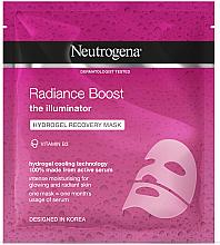 Parfémy, Parfumerie, kosmetika Hydrogelová regenerační pleťová maska - Neutrogena Hydro Boost Radiance Boost Hydrogel Recovery Mask