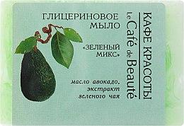 """Parfémy, Parfumerie, kosmetika Glycerinové mýdlo """"Zelený mix"""" - Le Cafe de Beaute Glycerin Soap"""