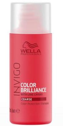 Šampon na ochranu barvy barevných tvrdých vlasů - Wella Professionals Invigo Color Brillance Shampoo